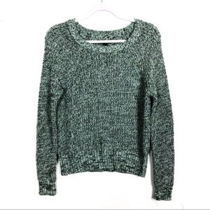 American Eagle Green Knit Bulky Sweater